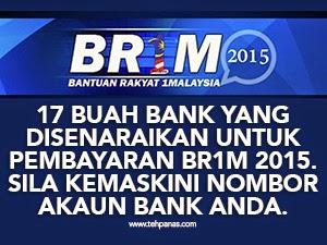 Thumbnail image for Senarai Bank Yang Dibenarkan Untuk Pembayaran BR1M 2015