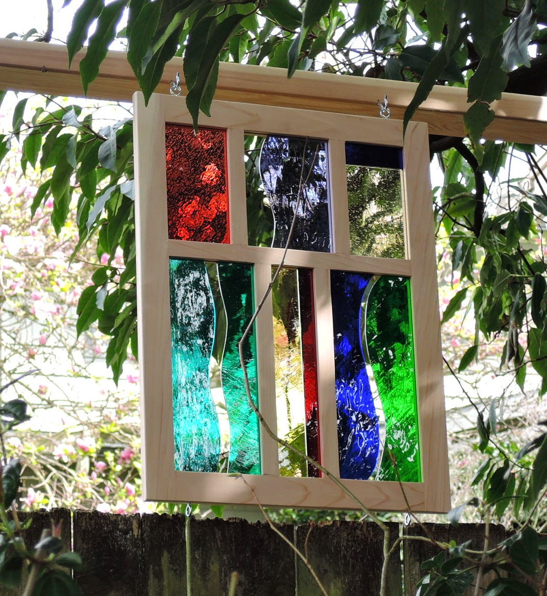 Spit Vinegar Outdoor Stained Glass Panel
