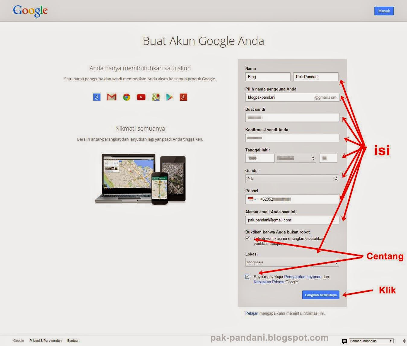 Cara membuat email di Gmail.com | Pak Pandani | Belajar dan Berbagi