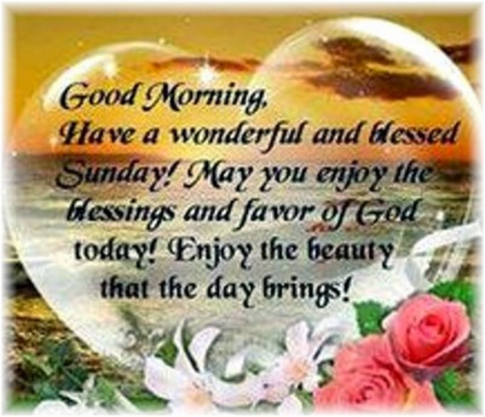 good morning everyone have a wonderful and blessed sunday