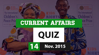 Current Affairs Quiz 14 November 2015