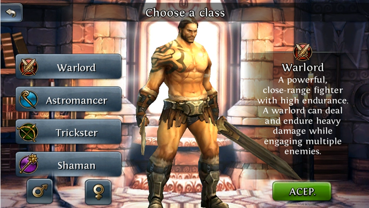 Mobile RPG Game Dungeon Hunter 3 All Screen