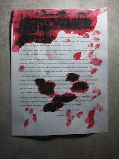 Blood-stained letter