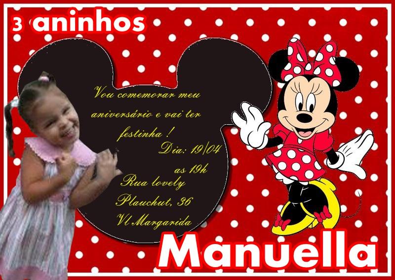Meu Convite E Legal Convites Minnie