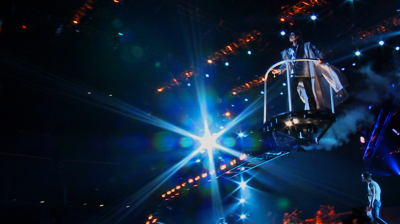 Michael Jackson's – This is it – Michael on the cherry picker.