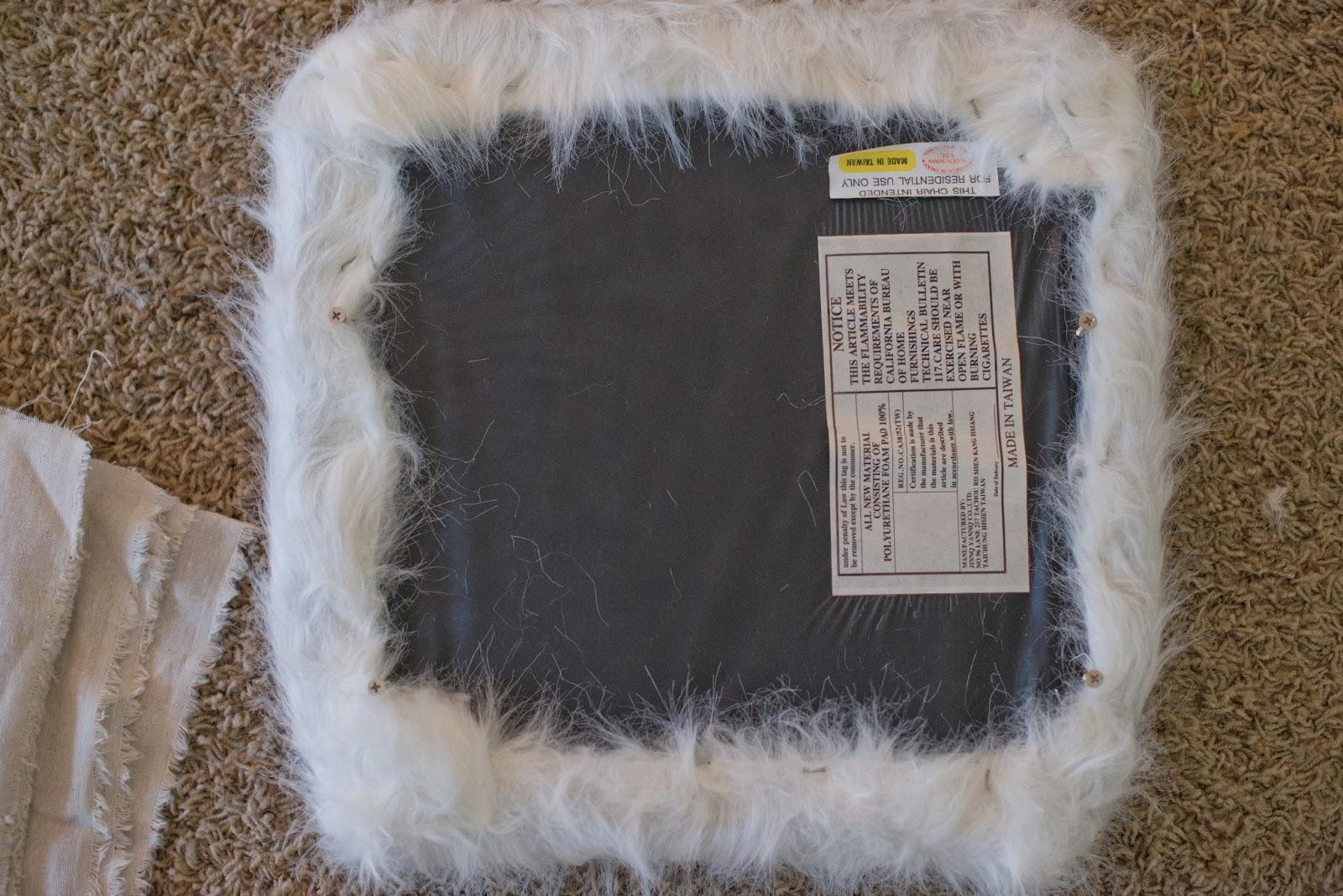 Domestic Fashionista: Faux Fur Covered Bar Stools