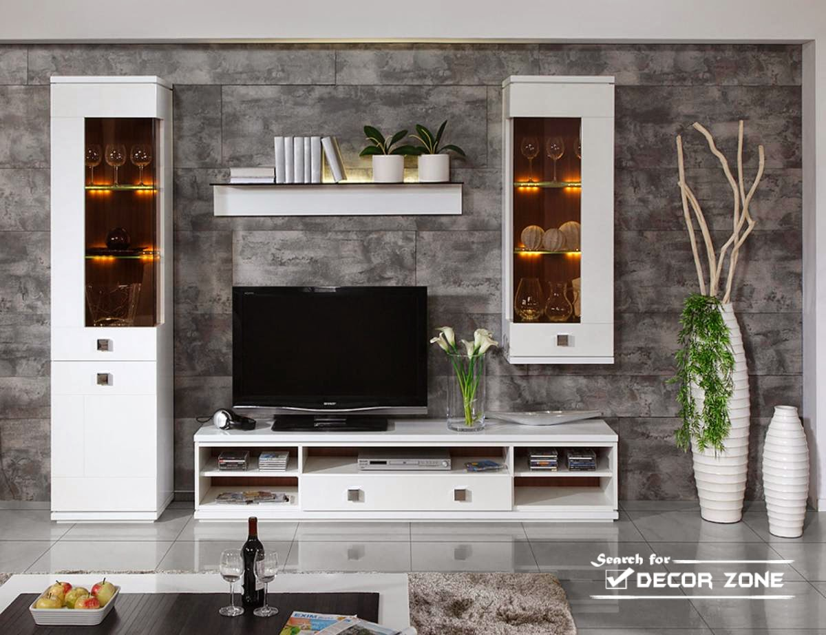 modern wall units for small living room - Small Living Room Furniture, Lighting And Paint Colors