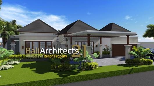 Desain Rumah Bu Theresia Luas 443 m2