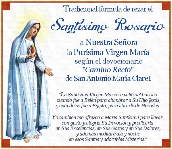 Modo de rezar el Santo Rosario