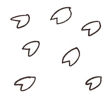桜吹雪のイラスト 線画