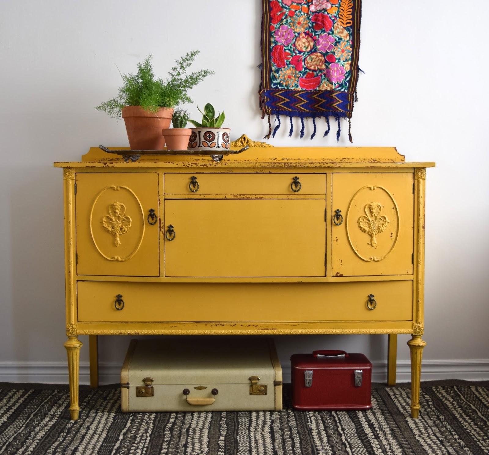 Poppyseed Creative Living Marigold Yellow Sideboard