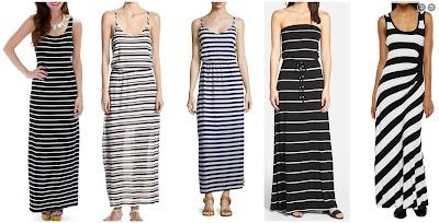 Fashion Club USA Striped & Swift Maxi Dress $26.10 (regular $49.99)  Splendid Striped Eyelet Maxi Dress $27.99 (regular $148.00)  Neiman Marcus Striped V-Neck Maxi Dress $35.60 (regular $89.00) similar  Caslon Strapless Knit Maxi Dress $39.90 (regular $68.00)  Dana Buchman Striped Maxi Dress $59.99 (regular $100.00)