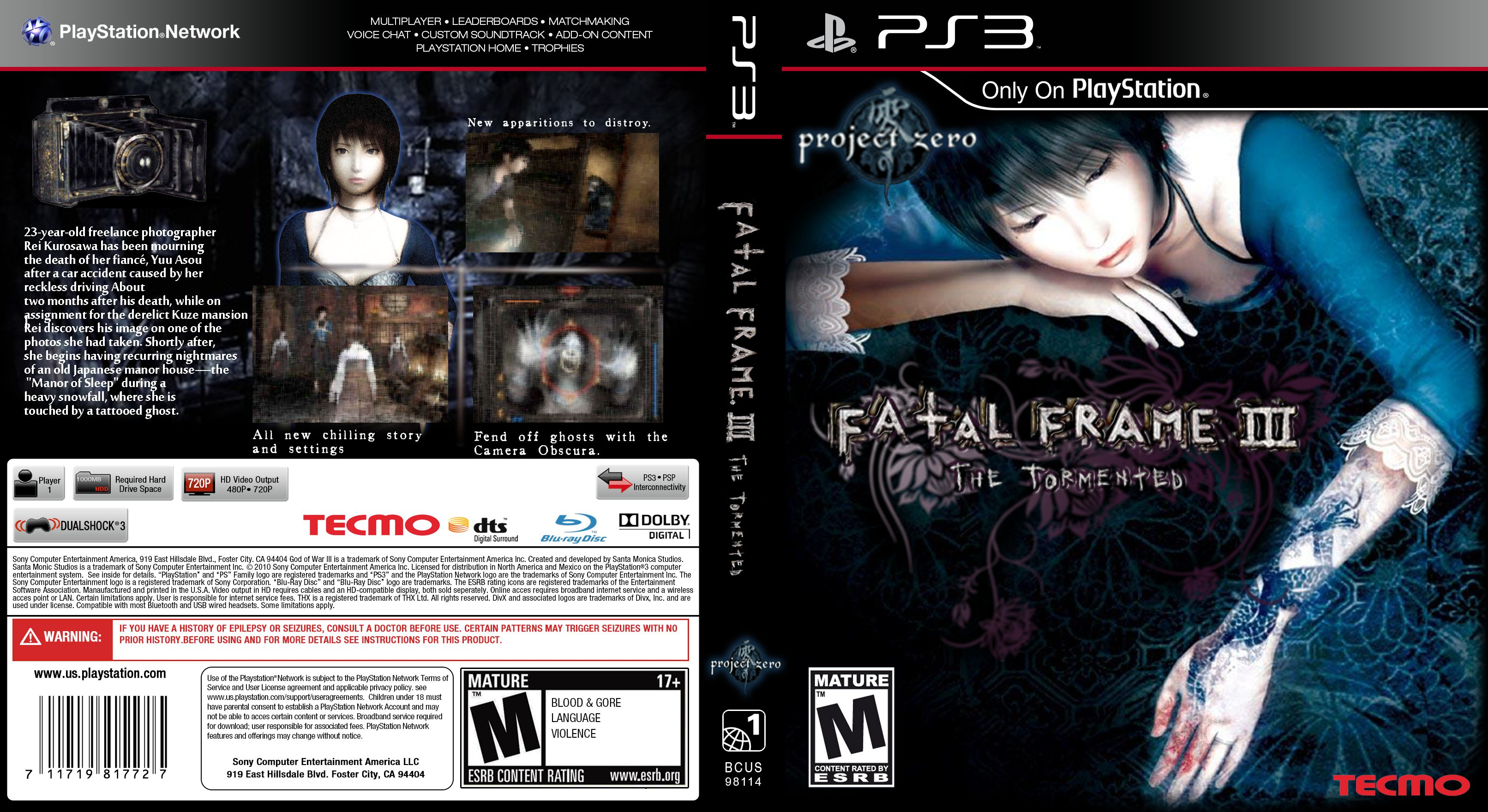 Fatal Frame 3 The Tormented | World Cover