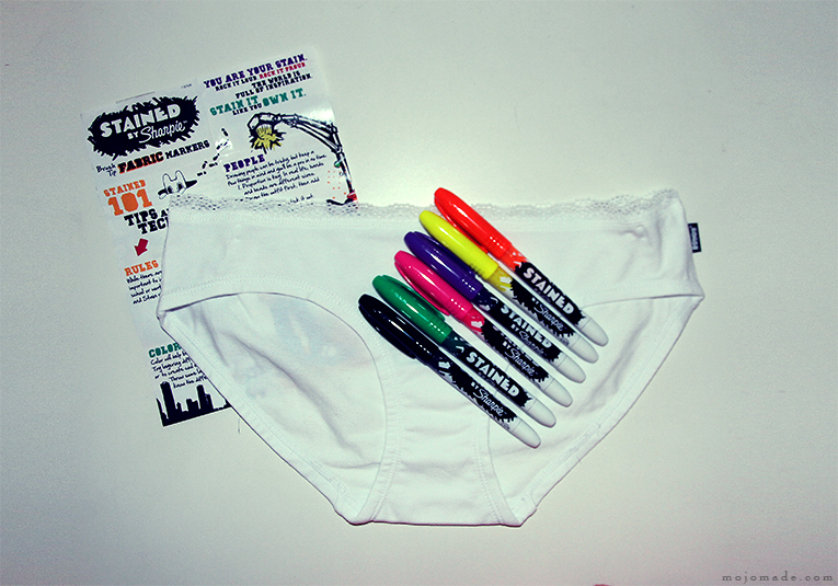 mojomade diy sharpie stained fabric markers custom knickers