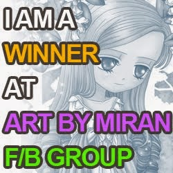 I won the March challenge on the Art by Miran Facebook group