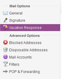 Vacation Response
