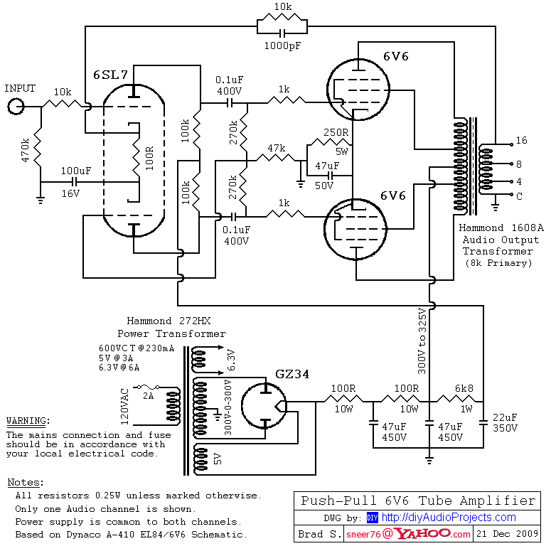 hammond transformers 6v6 push pull tube amplifier circuit diagram rh pdf town blogspot com Internet Wiring-Diagram Internet Wiring-Diagram
