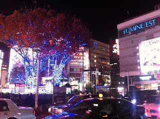 Christmas lights at Lumine Est, Shinjuku, 2012.