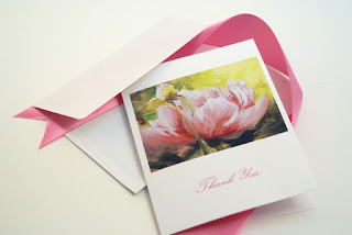 pink peony note cards notecards personalized notecards
