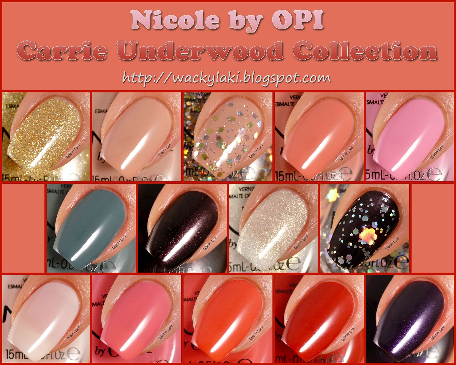 Wacky Laki: Nicole by OPI Carrie Underwood Collection Swatches and ...