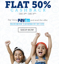 Babyoye: Baby & Kids products 100% Cashback (max.300) + 1% Payumoney off  : BuyToEarn