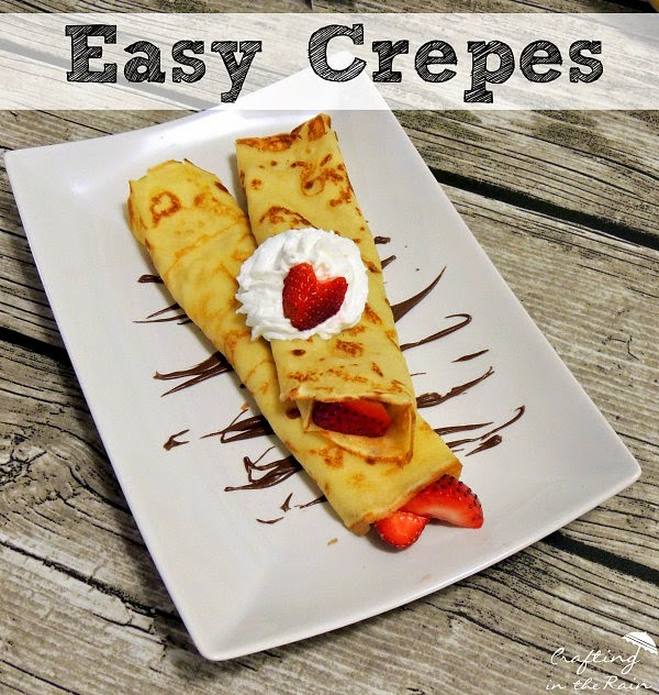Easy Crepes ||  Crafting in the Rain