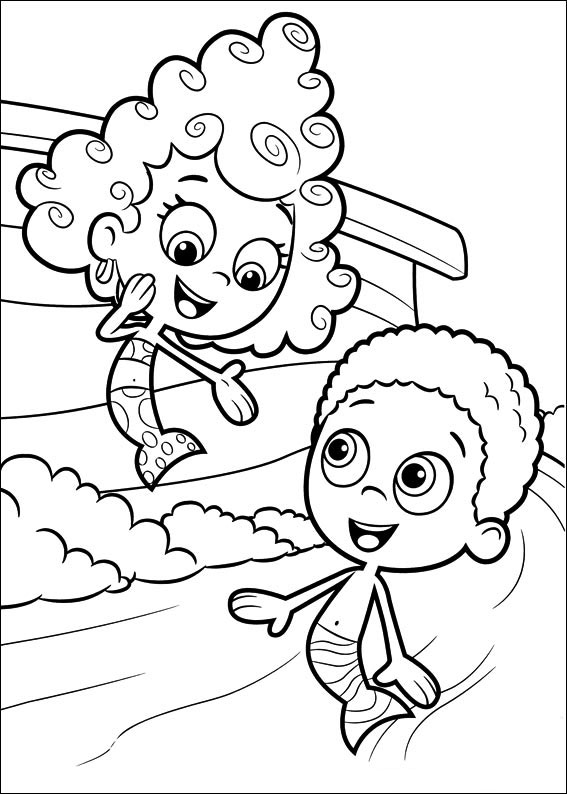 Bubble Guppy Coloring Pages