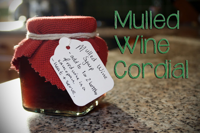 How to make Mulled Wine Cordial @owlprintpanda.blogspot.com