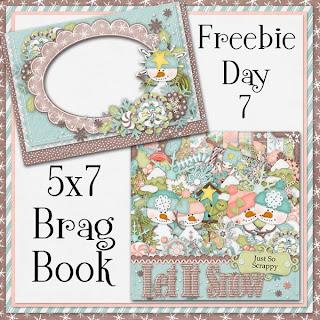 Let It Snow 5x7 Brag Book Freebie Day 7
