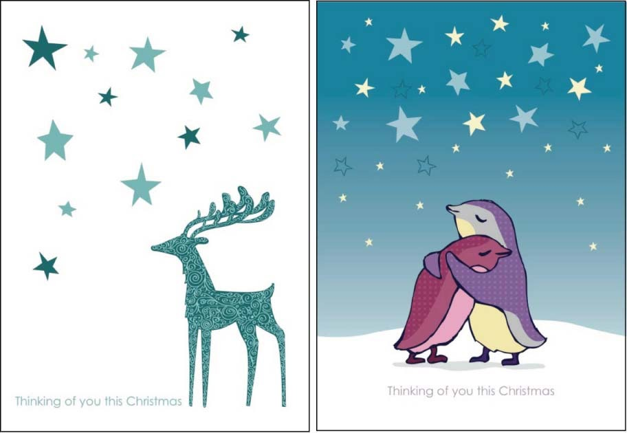 Miss Robinson S Art Bumpy Road Bereavement Christmas Cards Now On Sale
