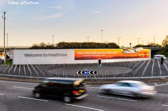 Emirates Advertising Outdoor Billboard Heathrow London