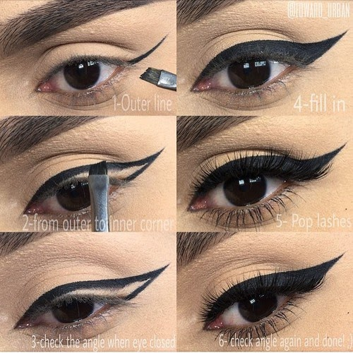 How to Apply Black Double Winged Eyeliner