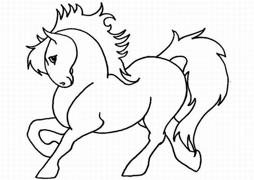 Pferde Ausmalbild, Kinder Spiele, Ausmalbilder