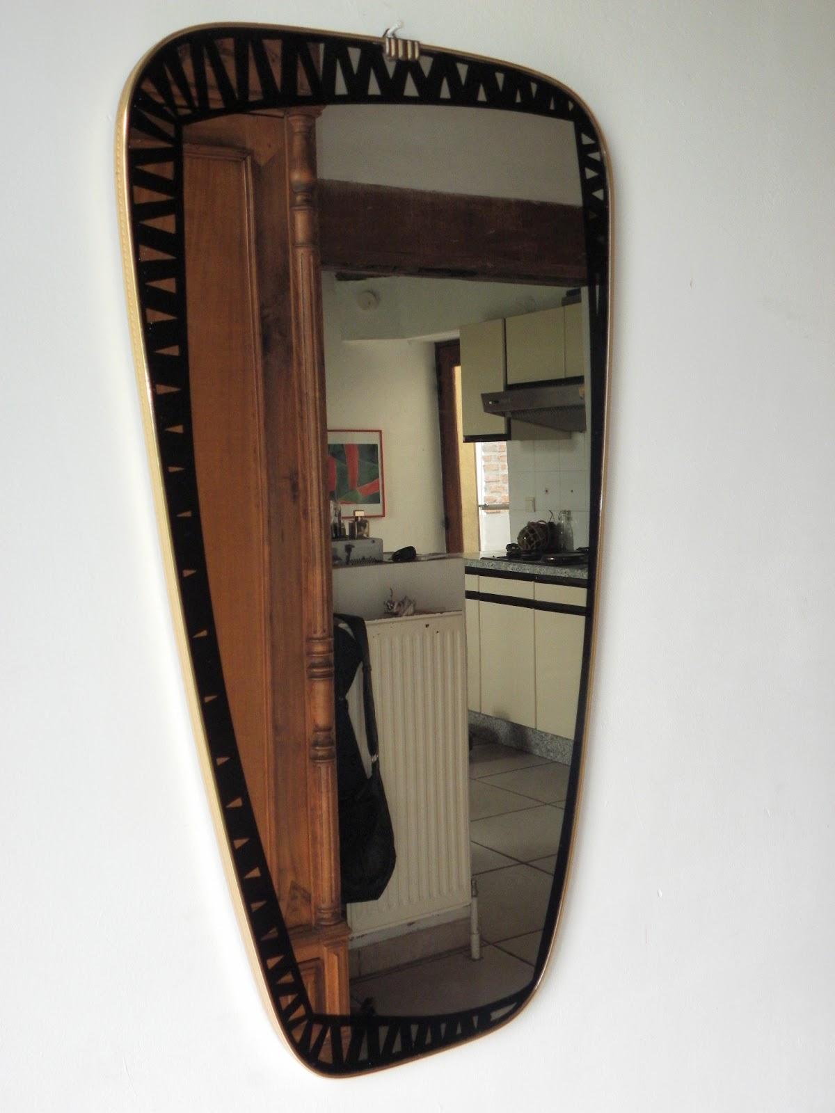 Lucie la chineuse miroir asym trique for Miroir etroit
