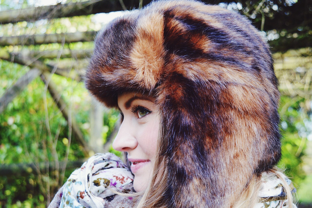 Trapper hat style inspiration from fashion blogger FashionFake