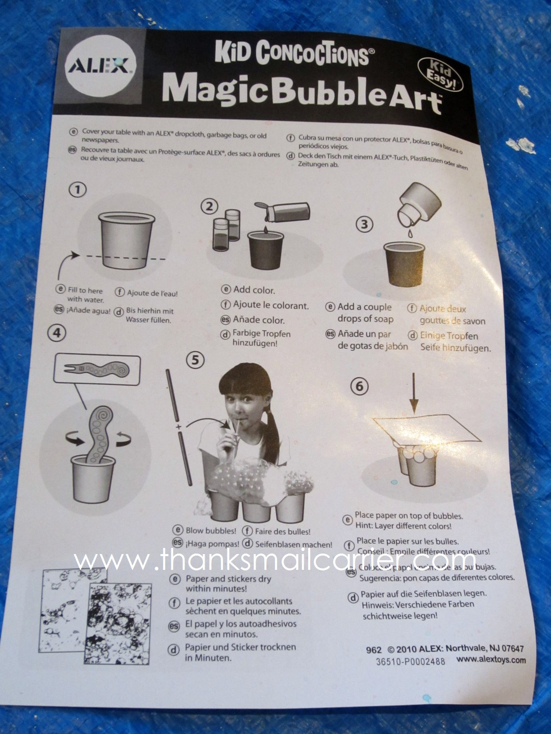 Thanks, Mail Carrier | Kid Concoctions Magic Bubble Art Kit from ...