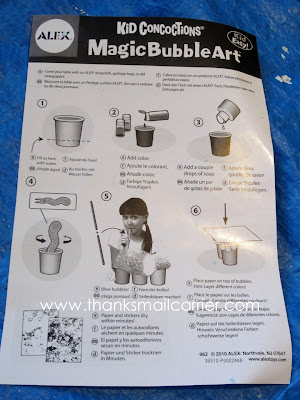Kid Concoctions Magic Bubble Art Kit instructions