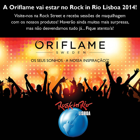 A Oriflame vai estar no Rock in Rio Lisboa 2014