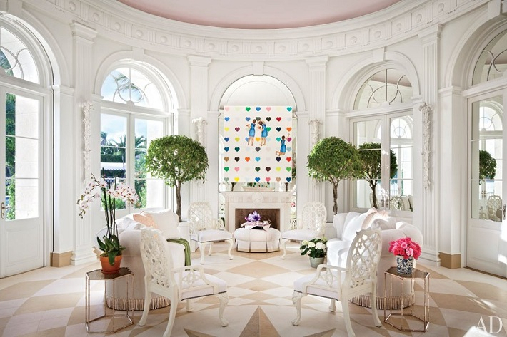 Mix And Chic Home Tour Two Extraordinary Estates In The Hamptons And Palm Beach