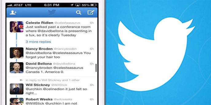طريقة عرض التغريدات ضمن المحادثة الواحدة لتويتر
