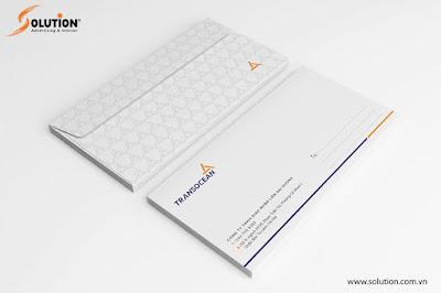 Mẫu thiết kế phong bì - Bộ nhận diện thương hiệu TransOcean
