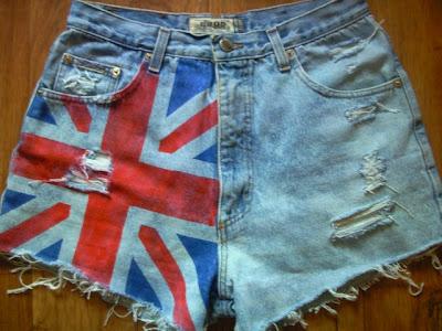 szorty spodenki punk strzępione jeans rock blogerskie