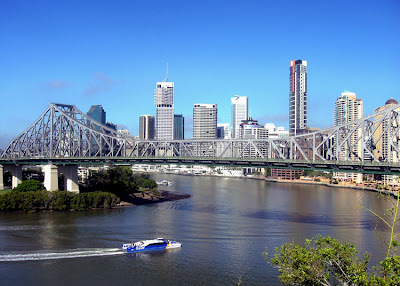 Brisbane cbd story bridge