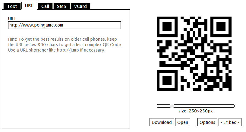 Membuat QR Code (mirip barcode) Url Website/Blog