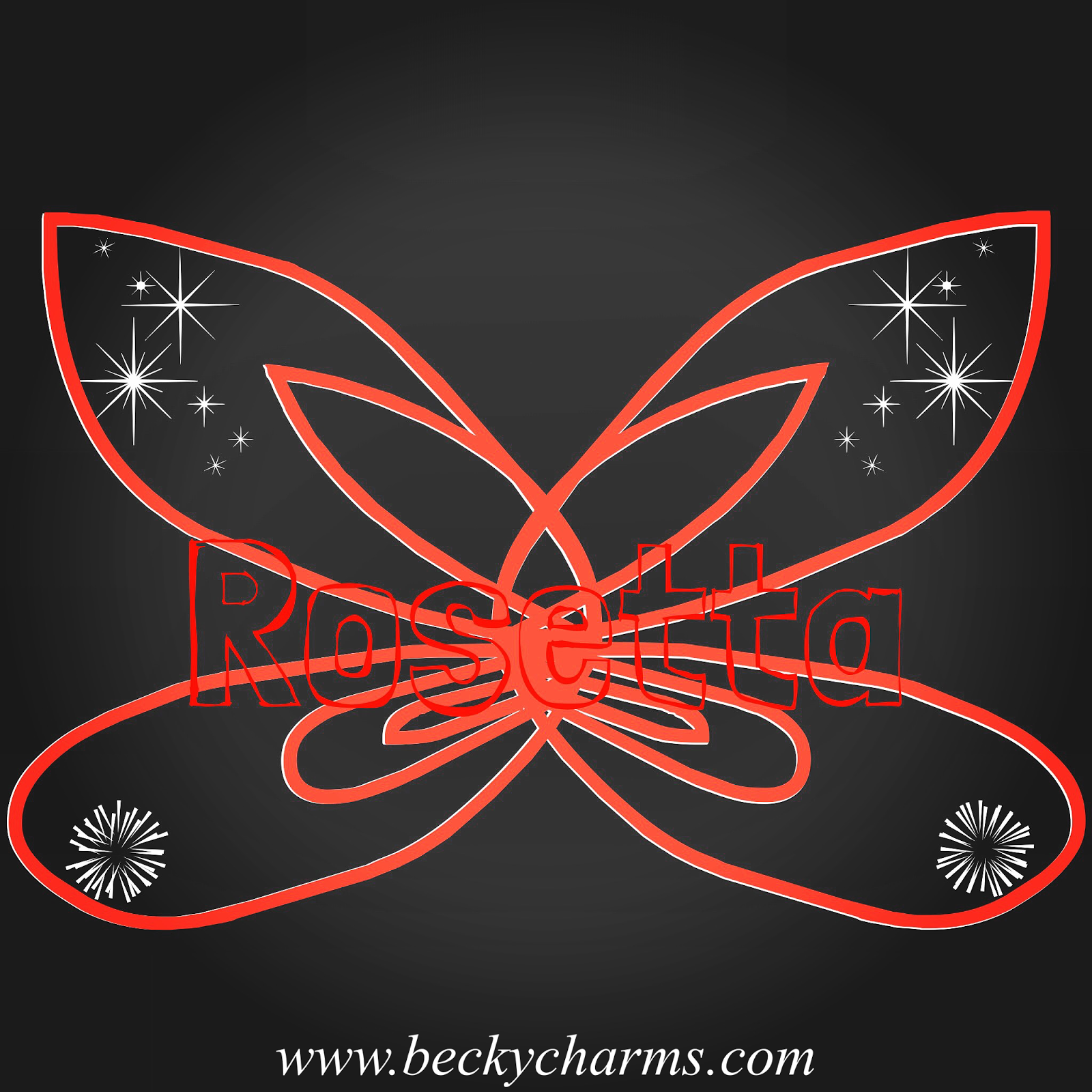 Disney Fairy Wings Rosetta Graphic Art Recreate by BeckyCharms