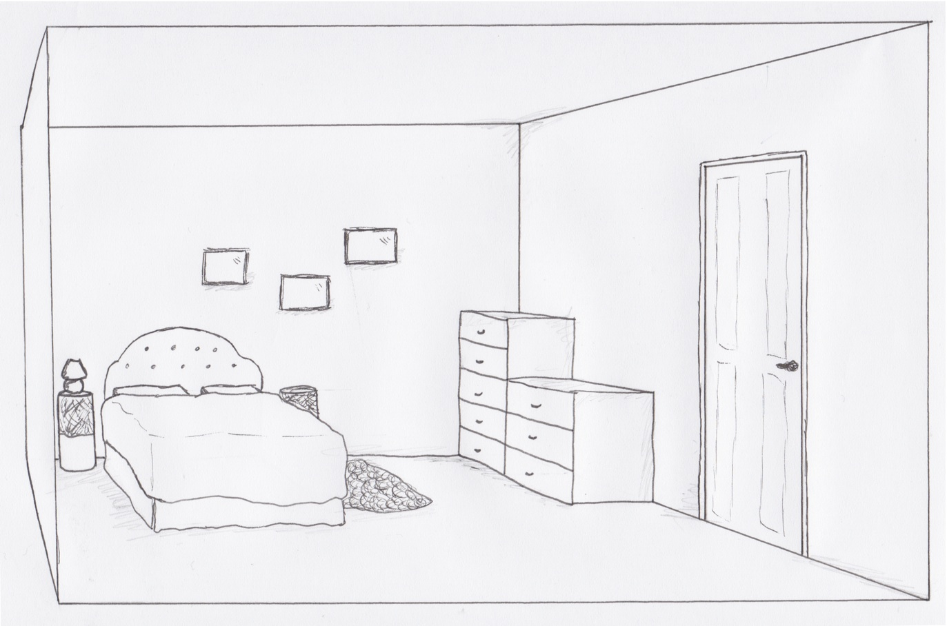 The house of kathleen bedroom visuals for Drawing room bed design