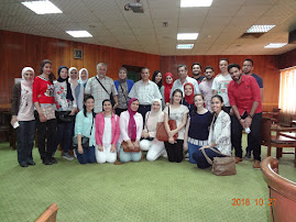 Dr. Alaa Mosbah and Dr. Nagy with role players and organizers, OSCE