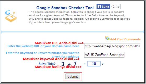 Google Sandbox Checker Tool