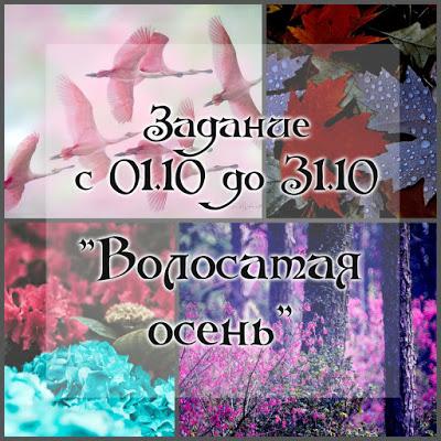 """Задание """"Волосатая осень"""" 31/10"""
