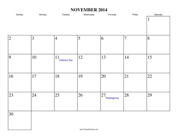 november 2014 calendar printable with holidays printable calendar